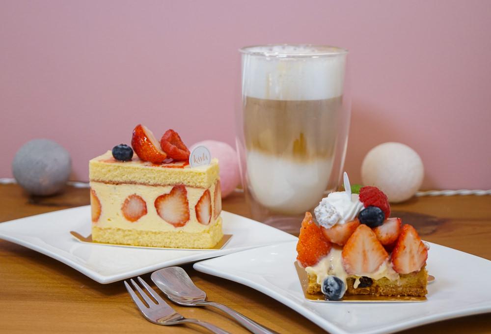 [高雄甜點推薦]Kayla凱拉洋菓子專賣店-少女粉紅系甜點店!超平價午茶甜點