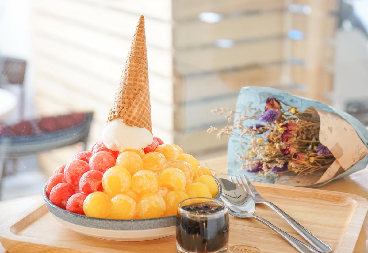 [高雄冰店推薦]午涼。Go for ice-超吸睛!繽紛雙色水玉西瓜冰~平價消暑