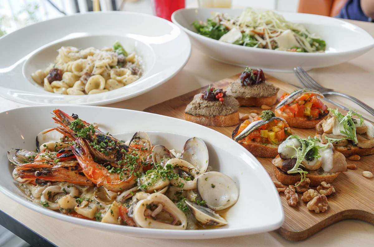 [高雄美術館美食推薦]all'Onda浪。義大利慢食廚房-尋找經典義式味道!必吃海鮮燉飯x貓耳麵