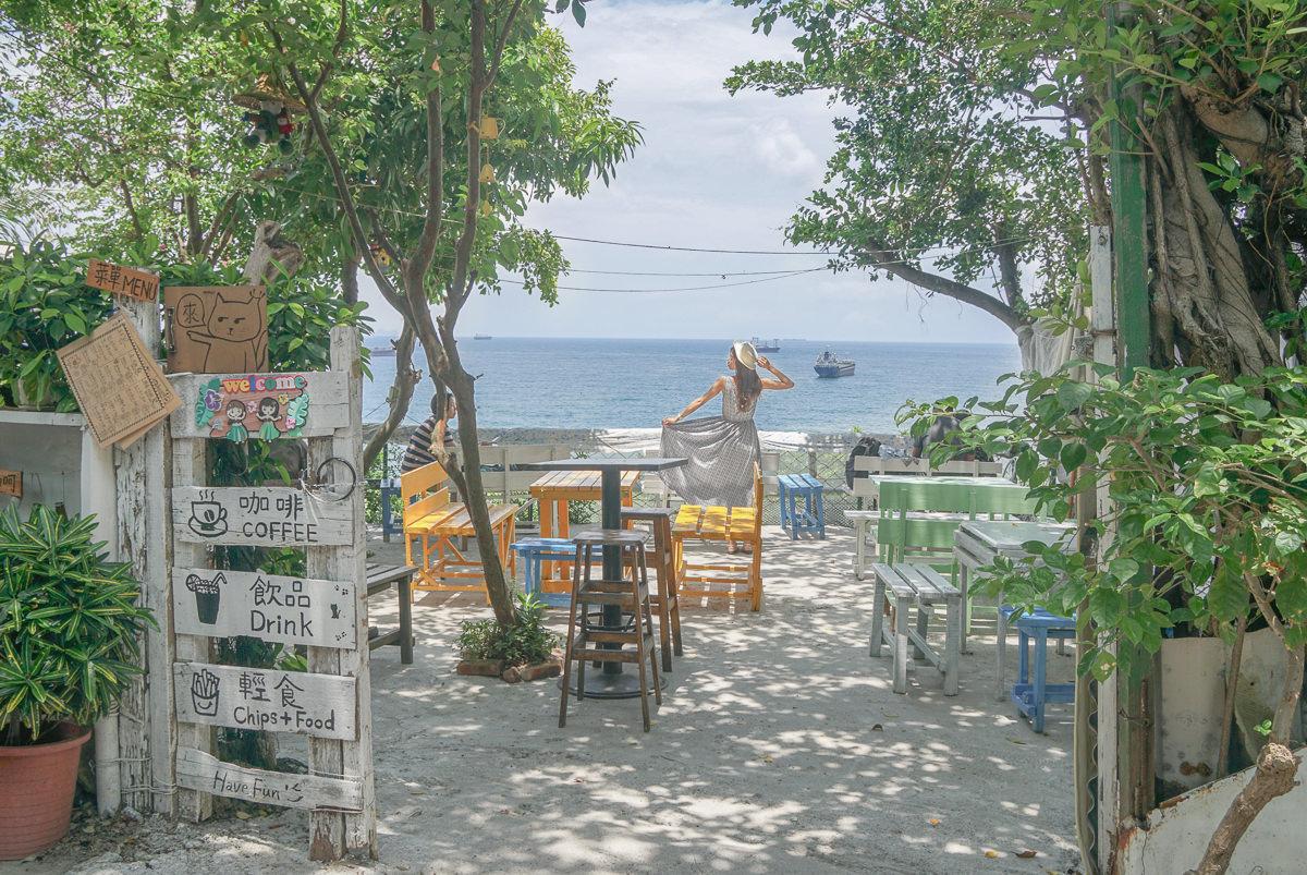 [高雄海景咖啡]萊加呵Nine J-一秒來沖繩賞海!平價柴山秘境海景咖啡廳