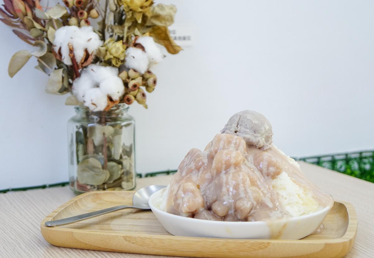 [高雄冰店推薦]呷丸味-芋頭控必吃!芋頭芋丸滿滿芋泥雪冰~驚喜的豆漿雪花冰!