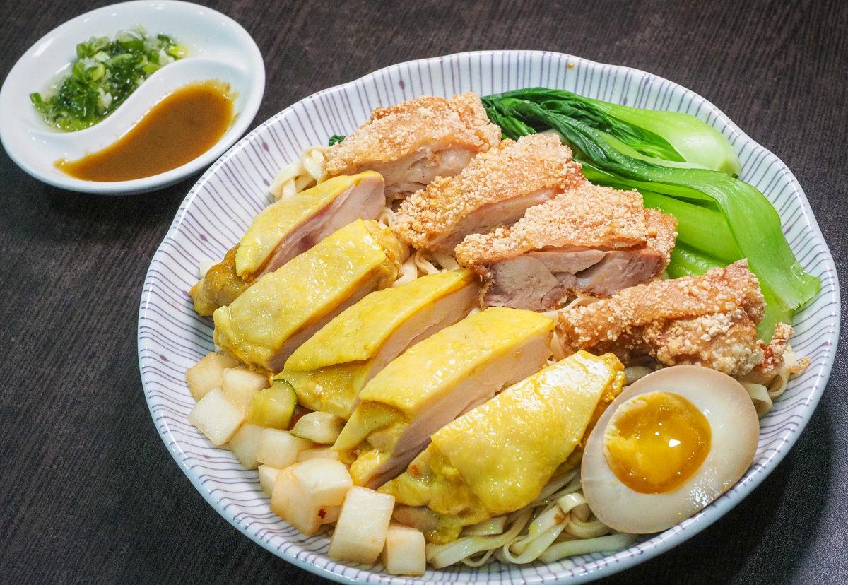 [高雄]佑佑藥膳排骨-每日限量!重量級海南雞雙拼麵~大口吃多汁嫩雞!