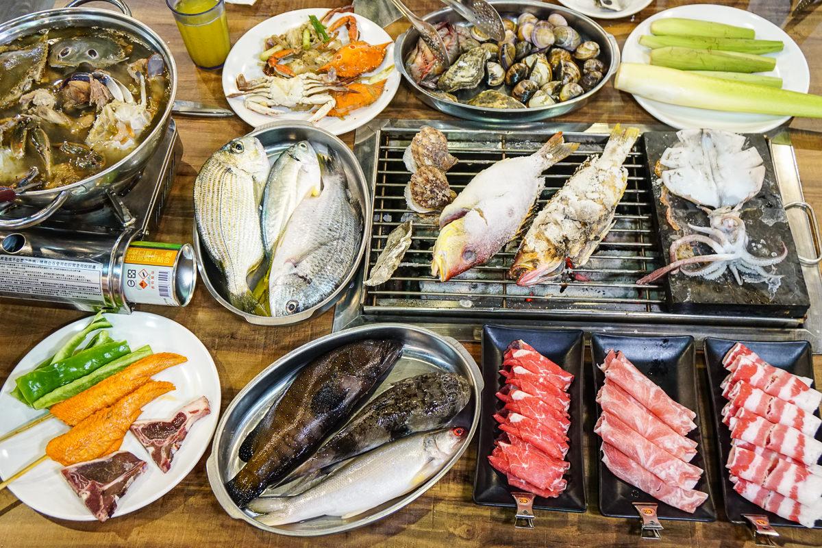 [高雄吃到飽推薦]鮮炭霸海鮮碳烤火鍋吃到飽-超新鮮烤魚海鮮爽爽吃x暖暖薑母鴨火鍋