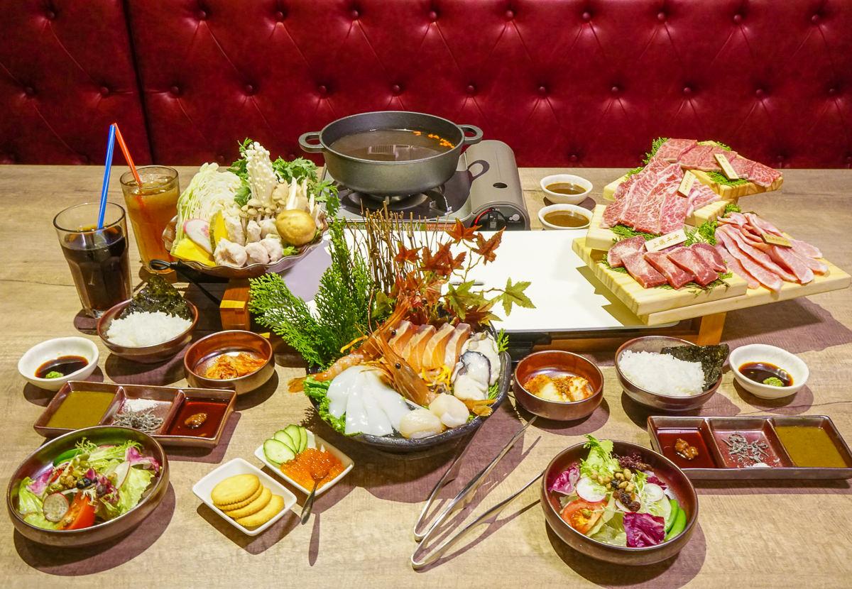 [高雄燒肉]宮鶴炙燒專門店-質感日系燒肉!有和牛和鍋物的雙人海陸炙燒套餐