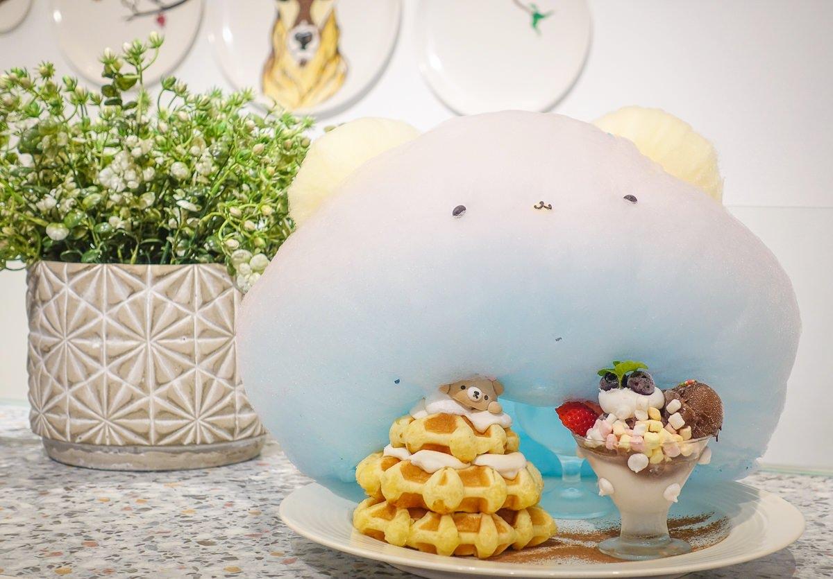 [高雄下午茶推薦]雛菊鬆餅-夢幻熊熊棉花糖比利時鬆餅!閨密約會聚餐美店