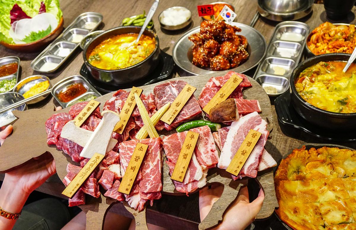 [高雄韓式燒肉]娘子居食屋(高雄美術館加盟店)-一套餐爽吃8種部位肉x超划算獨享個人鍋