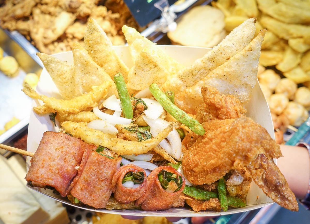 [高雄]犁田鹹酥雞(新興六合店)-多樣獨家食材鹹酥雞~超涮嘴Q彈 「美麗骨」