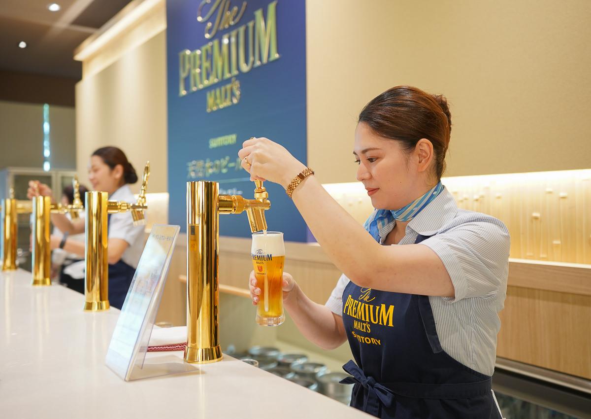 [京都景點推薦]Suntory啤酒工廠爽喝啤酒~免費接駁、免費參觀、免費試飲生啤
