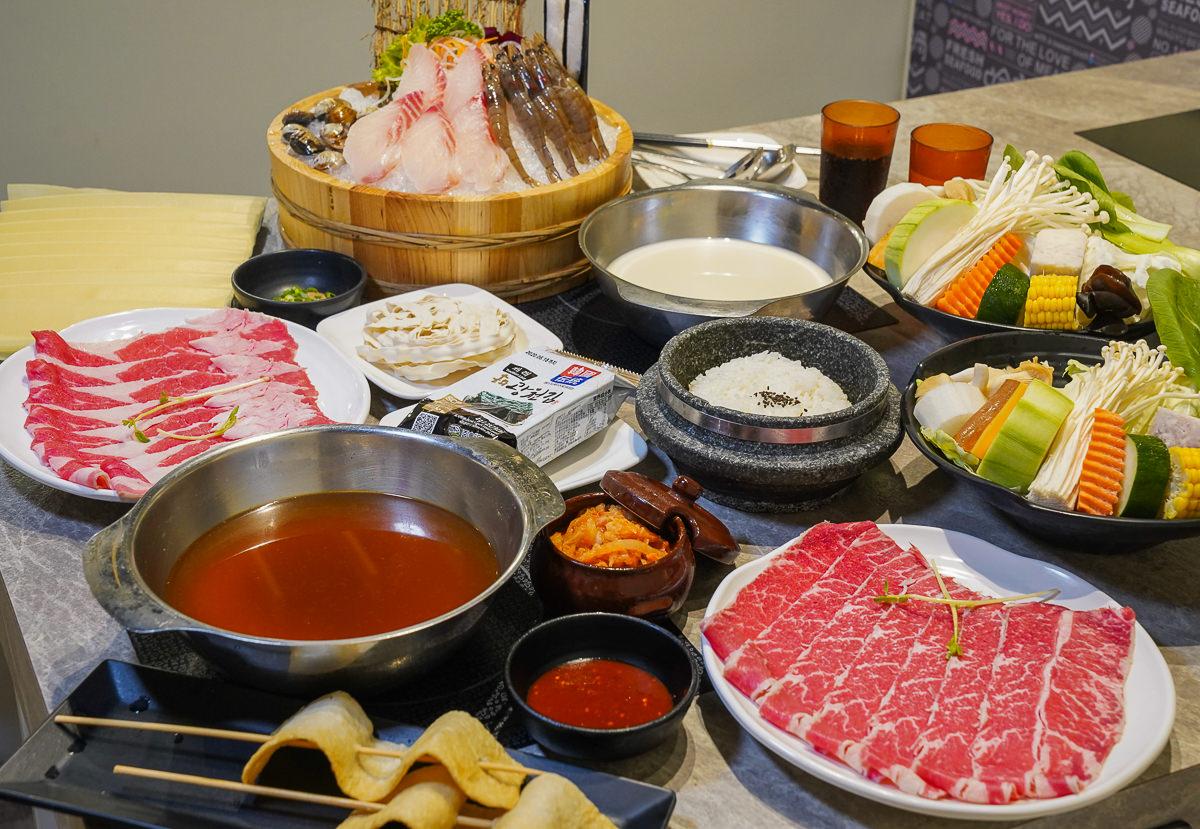 [高雄火鍋推薦]哈肉鍋-愛河家樂福人氣火鍋~超韓式泡菜鍋全餐!還有石鍋飯和魚糕唷~