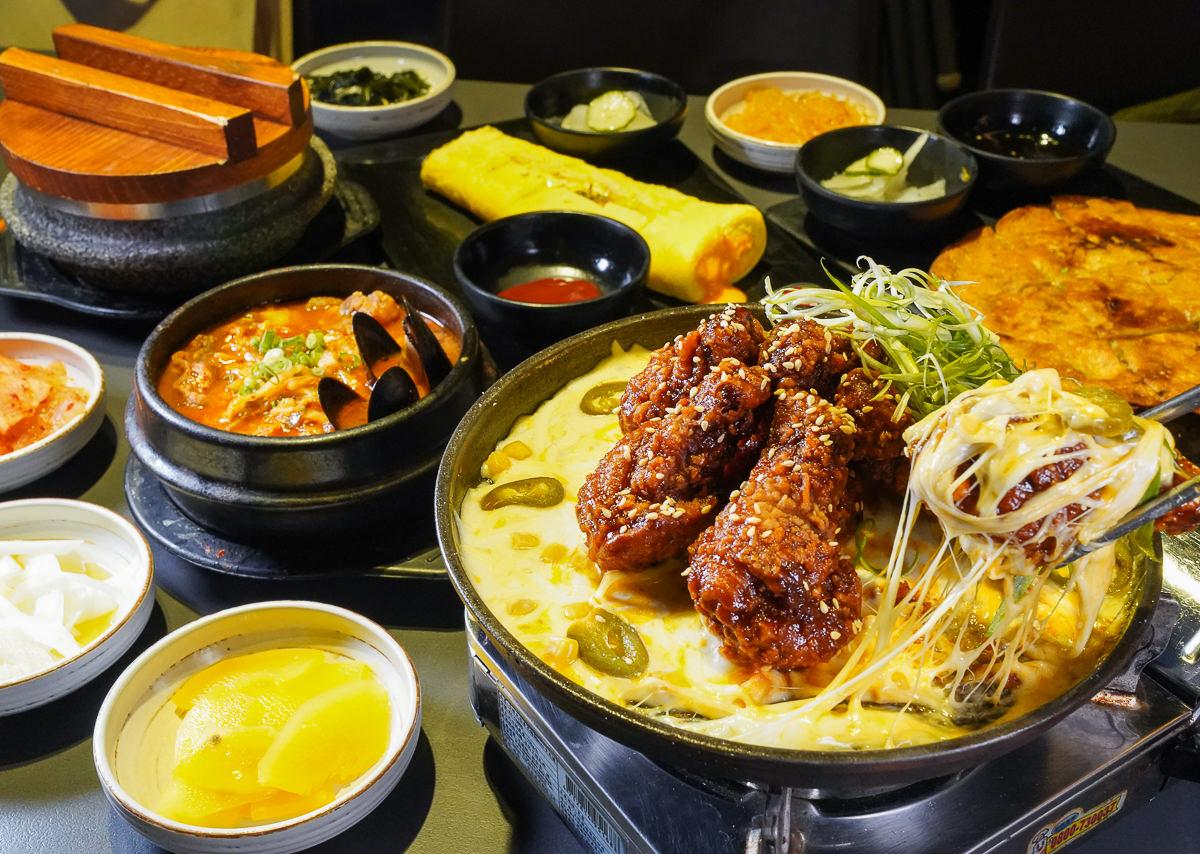 [高雄]玉豆腐韓國家庭料理-起司控吃起來~熔岩起司炸雞套餐!楠梓家樂福必吃美食