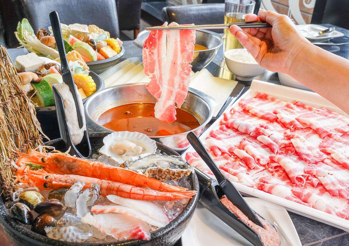 [高雄]九勺涮涮鍋-高鐵左營新光空中花園質感火鍋~爽爽吃大肉盤、海鮮盤!