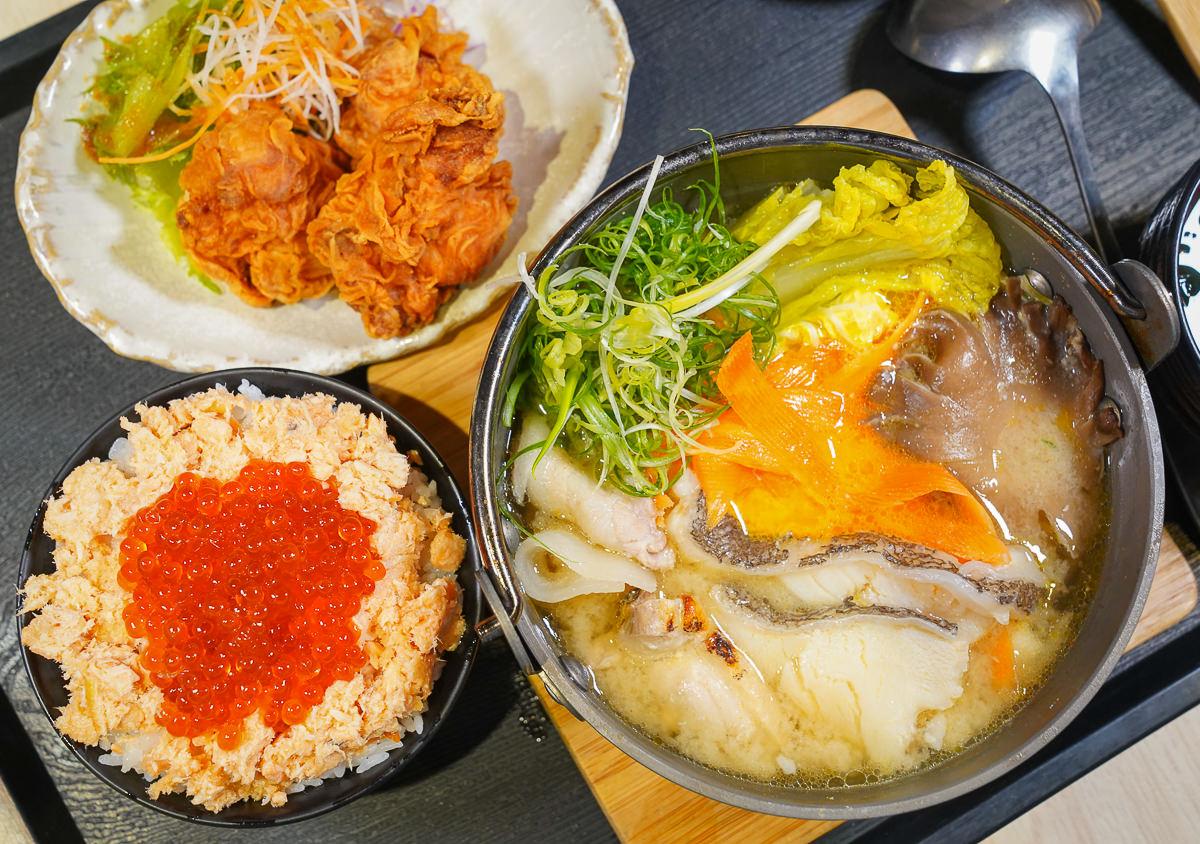 [高雄巨蛋美食]あこや太羽魚貝料理-最浮誇石狩鍋+親子丼定食!元月限定華麗日式新年小菜