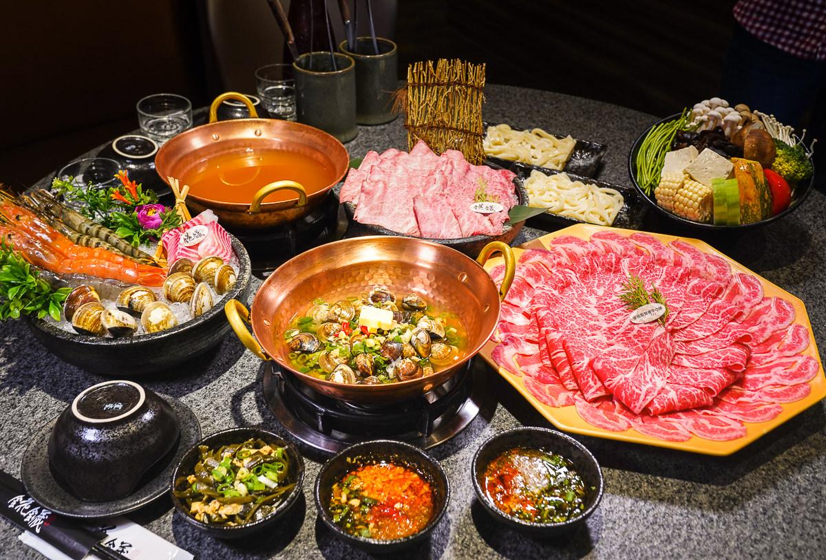 [高雄火鍋推薦]錵鑶水產和牛鍋物-高雄最划算頂級鍋物~雙人餐20oz肉盤爽爽吃