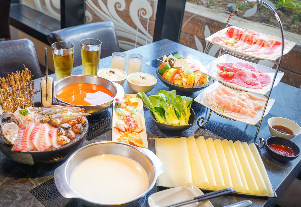 [高鐵左營美食]九勺涮涮鍋-超高C/P值海陸雙人套餐火鍋~浮誇三層肉盤x澎湃海鮮盅
