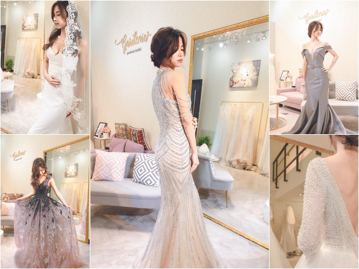 [高雄婚紗推薦]高雄梔子花手工婚紗試穿心得~不用加價也有的巨美質感婚紗