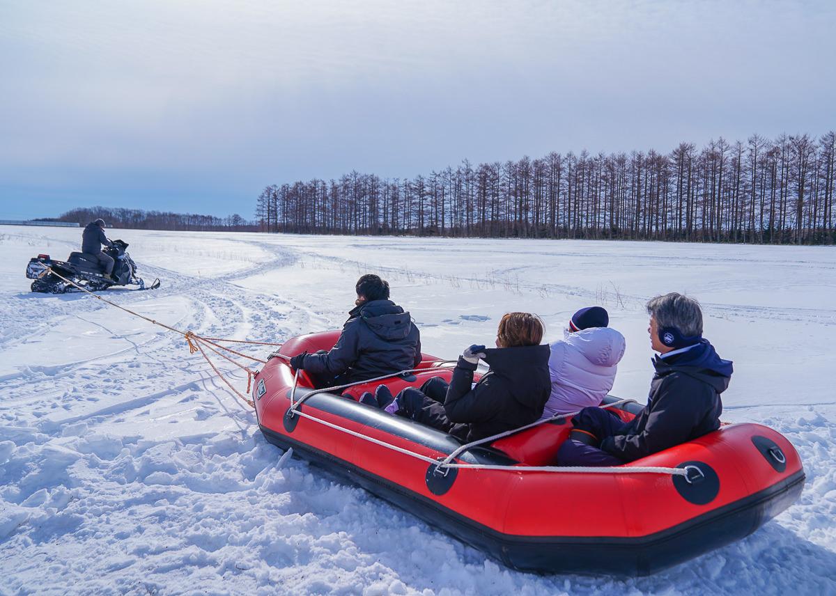 [北海道道東]超刺激冬季北海道體驗!極致速度感雪上泛舟スノーラフティング