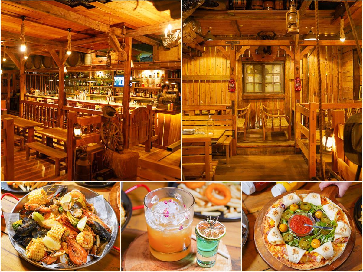 [高雄餐酒館推薦]馬爹力舊美式餐酒館-走進美國西部電影場景~驚呼好吃美食與好喝調酒!