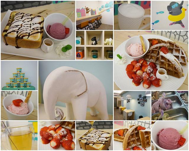 [台南]童話小店裡草莓鬆餅與雲朵吐司的大大滿足-小象樹義式冰淇淋