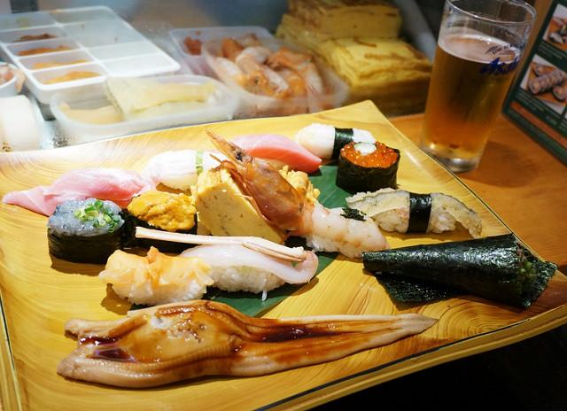 [東京]平價大啖新鮮生魚壽司-梅丘寿司の美登利総本店(涉谷店)