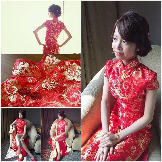 [Wedding]文定大紅旗袍才正點!推薦高雄平價旗袍訂做-藍白旗袍專家