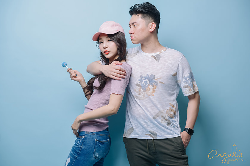 【主題穿搭】畫報風格初登場♡粉×藍的春季Couple look