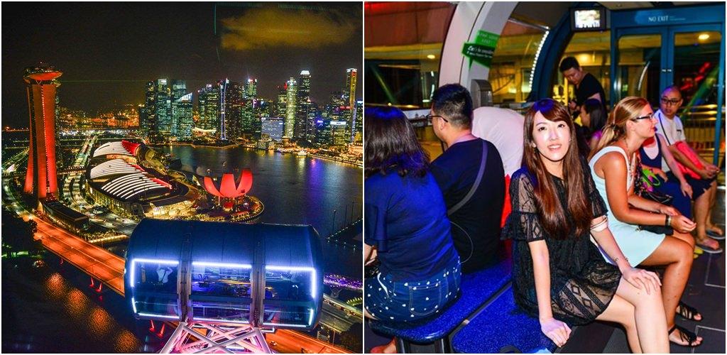 【新加坡自由行】5天4夜新加坡自由行。新加坡摩天觀景輪 Singapore Flyer。全球最高的摩天輪