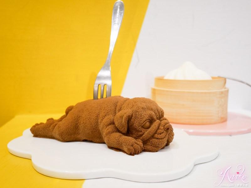 【台中美食】耕者有其甜。怎麼可以吃狗狗!萌翻天~爆紅可愛英國鬥牛犬甜點