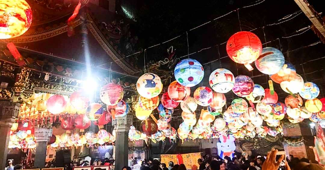 【台南景點】2020台南普濟燈會。普濟燈會點燈囉!可愛招財鼠亮相~國華街上再現1500顆夢幻燈籠海