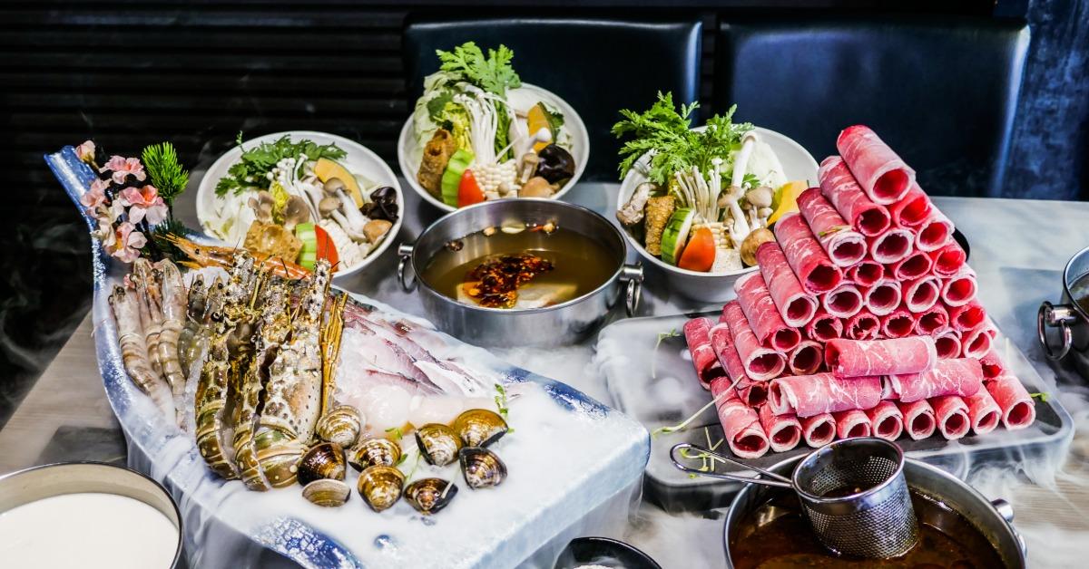 【台北美食】肉老大頂級肉品涮涮鍋忠孝復興店。浮誇系海鮮船加上霸氣大肉塔~一人千元有找吃的到!