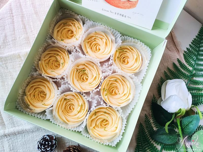 【台中美食】Cream Tea。台中人氣網購甜點!想吃等半年~夢幻花型檸檬塔