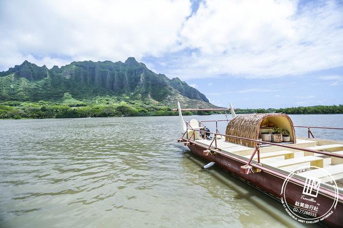 夏威夷 歐胡島。古蘭尼牧場 沉浸在神秘島的陽光、沙灘、漸層藍海水!