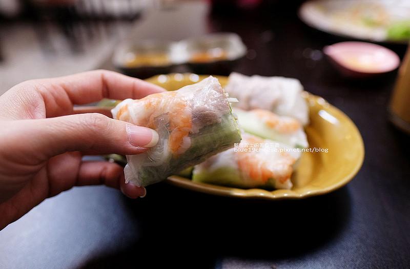 【台中西區】愛珍越南美食-原西貢河粉.推薦炸春捲生春捲.生牛肉河粉~