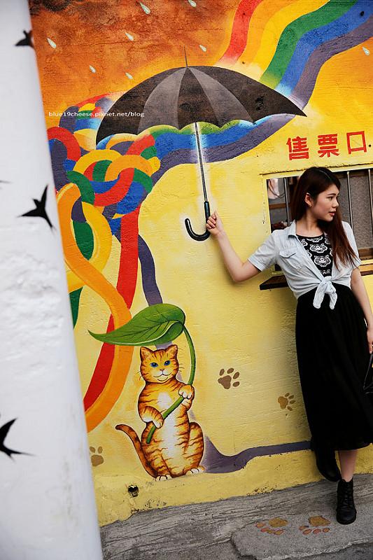 【雲林虎尾彩繪景點】屋頂上的貓 – 頂溪社區藏著卡哇伊的貓咪們