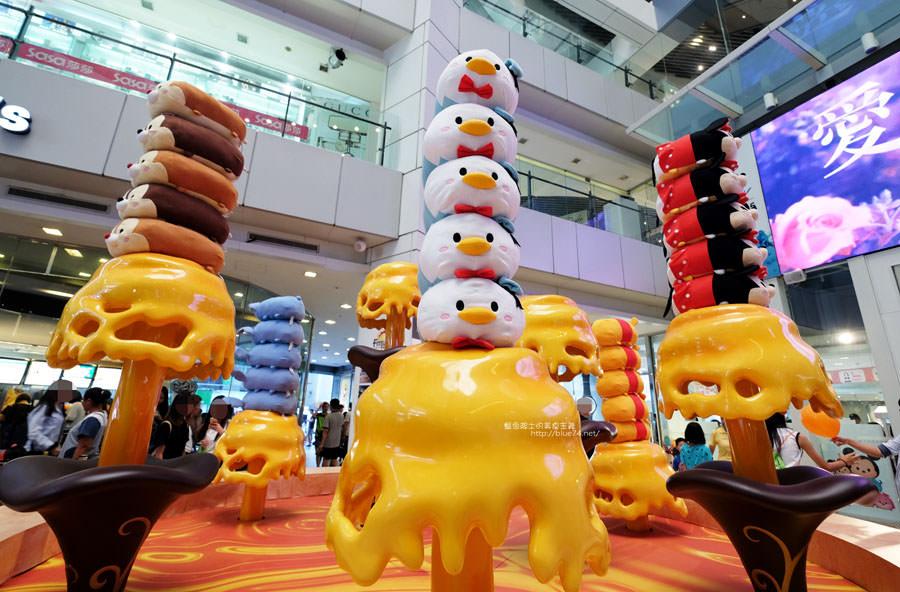 台中東區│TSUM TSUM玩轉派對-巧克力屋.蜂蜜噴泉等大型場景等你來免費拍照.大魯閣新時代購物中心