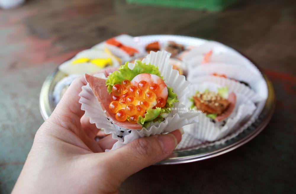 20171214010342 30 - 熱血採訪│天皇壽司,大里仁化黃昏市場新鮮平價外帶選擇性多花壽司,還有100元的丼飯也太划算!