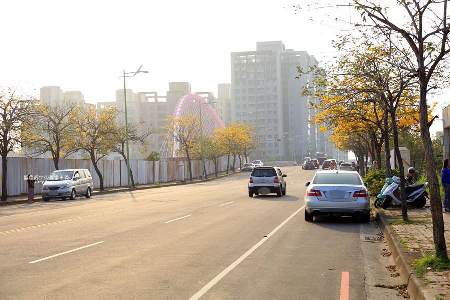 20180304003249 60 - 廍子公園-風鈴木從情人橋一路綻放到台中最美黃金公園裡