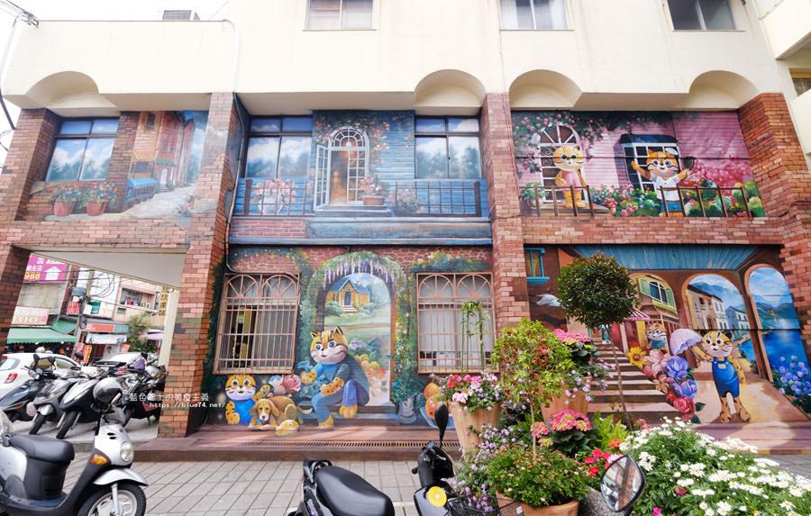 20180314173205 45 - 太平區公所3D石虎家族彩繪-兩層樓高的彩繪牆.石虎家族和花卉主題吸睛好看