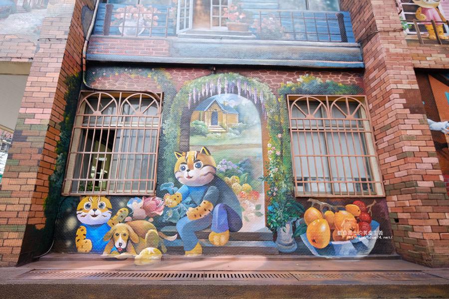 20180314173207 40 - 太平區公所3D石虎家族彩繪-兩層樓高的彩繪牆.石虎家族和花卉主題吸睛好看