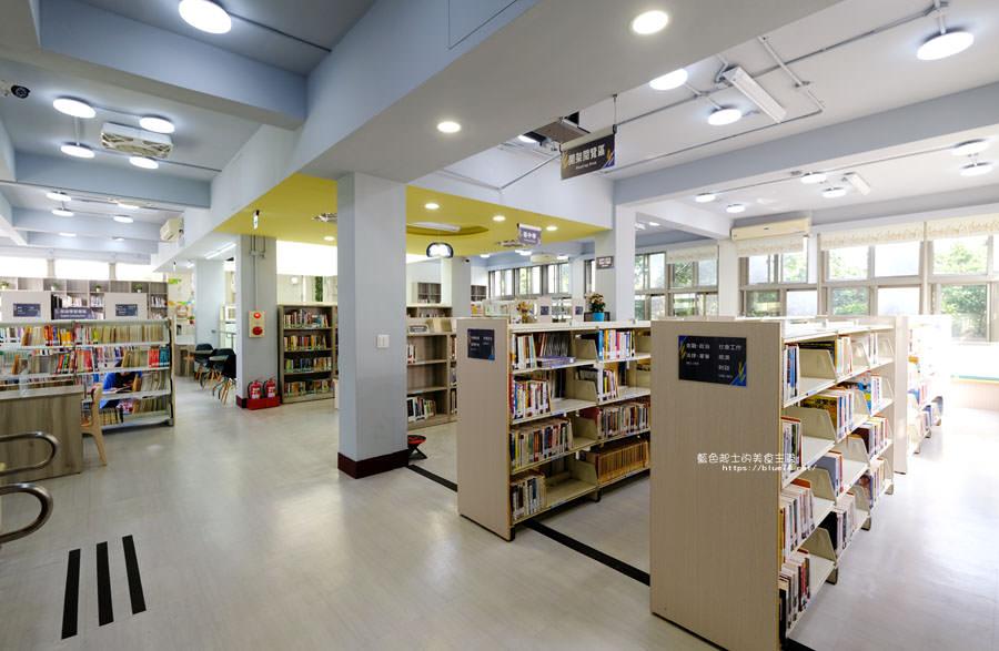 20180329105436 57 - 大雅圖書館│空間大改造的20年圖書館.大片玻璃有著大雅國小的綠意與充足光線