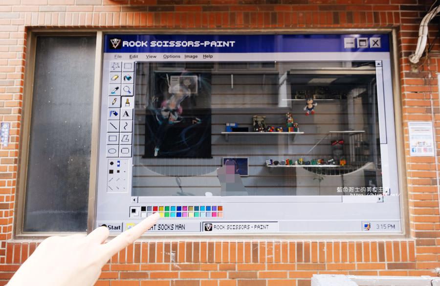 台中北區│Rock scissors眼科商店-一中商圈可愛打卡點.小畫家搬上櫥窗