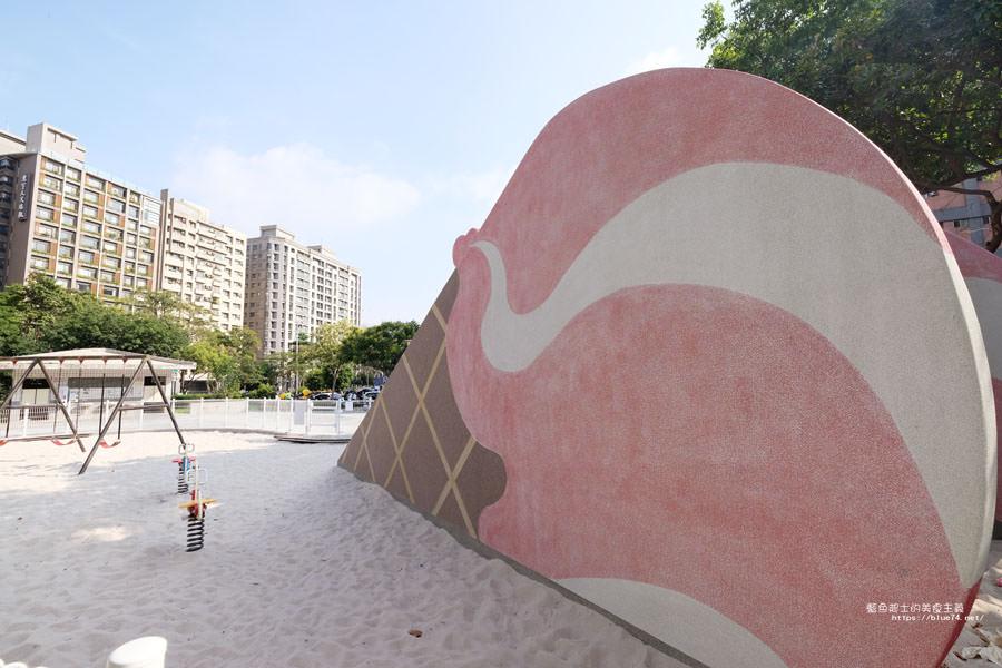 20180522012136 35 - 福星公園│大大可愛粉紅色冰淇淋球甜筒溜滑梯成為公園新打卡亮點