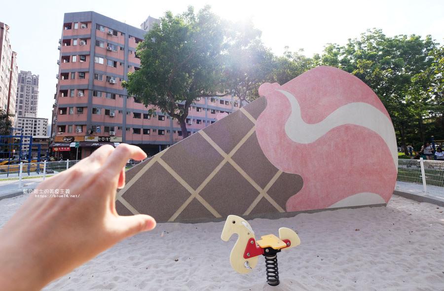 20180522012137 32 - 福星公園│大大可愛粉紅色冰淇淋球甜筒溜滑梯成為公園新打卡亮點
