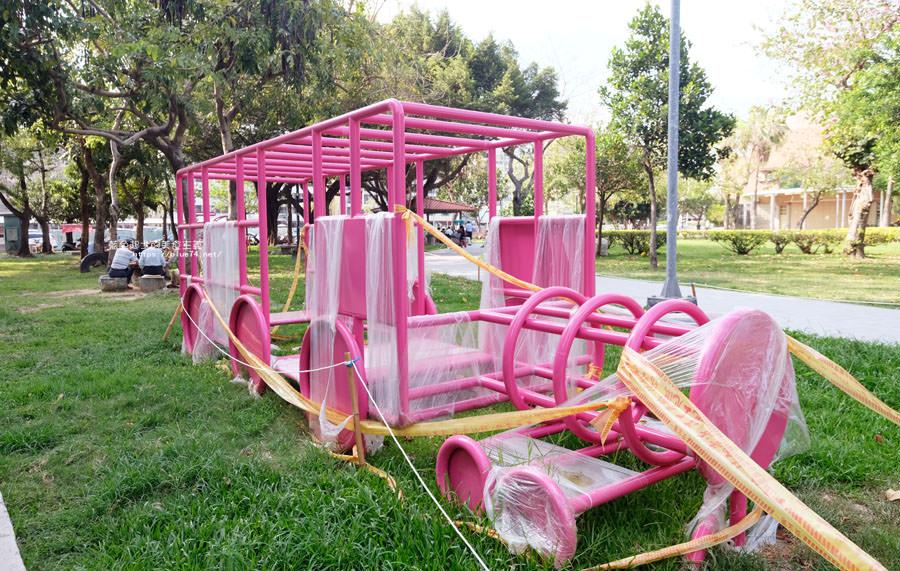 20180522012153 83 - 福星公園│大大可愛粉紅色冰淇淋球甜筒溜滑梯成為公園新打卡亮點