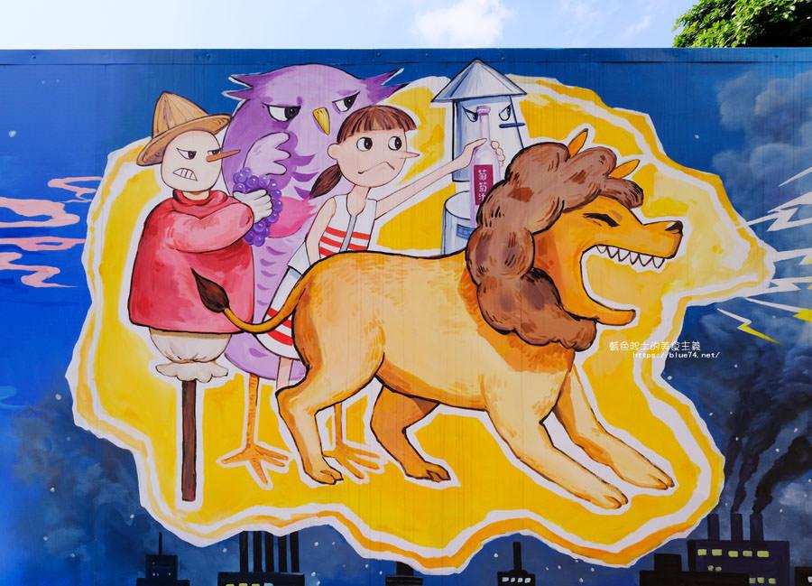 20180530090843 85 - 外埔國小花博彩繪│以綠野仙蹤故事為發想的石虎公車彩繪牆,充滿童趣人物跟花朵