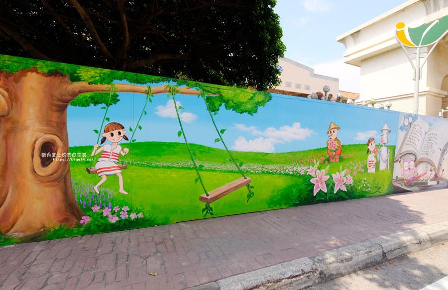 20180530090848 48 - 外埔國小花博彩繪│以綠野仙蹤故事為發想的石虎公車彩繪牆,充滿童趣人物跟花朵