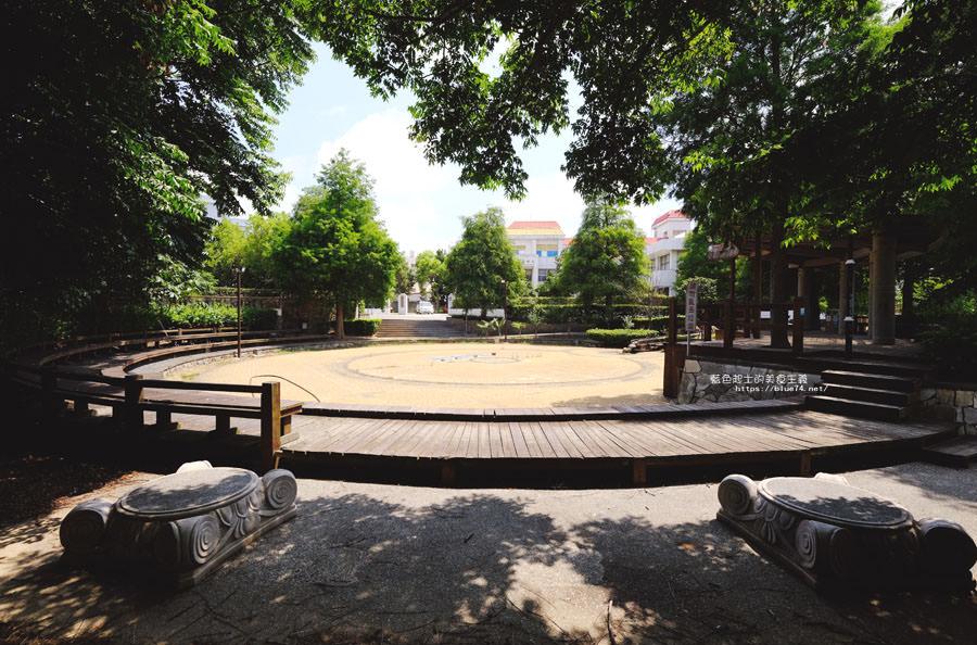 台中外埔│外埔區親水公園-樹木成蔭,有著木材步道及涼亭的小而美地方公園