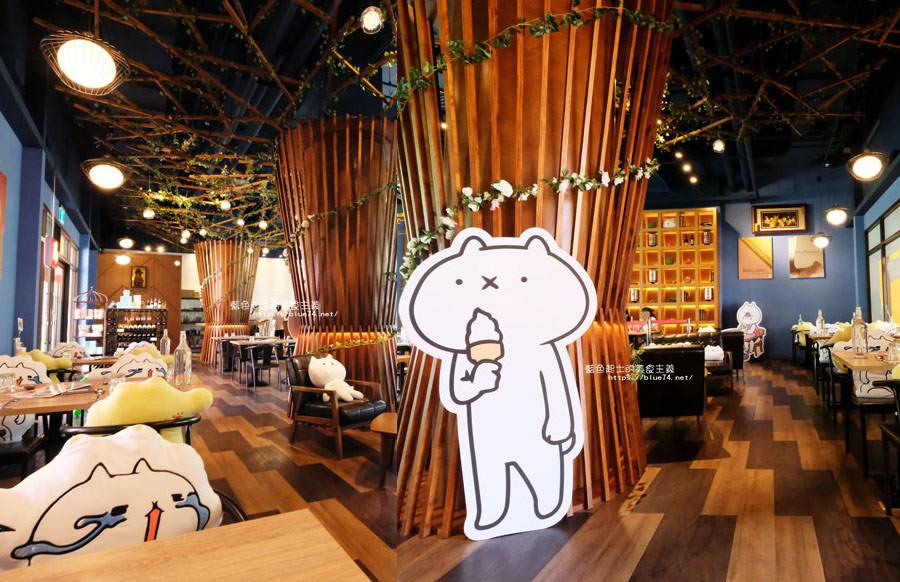台中后里│黛麗佐手義式餐廳麗寶店-日本人氣「反應過激的貓」line貼圖期間限定,就在麗寶Outlet Mall