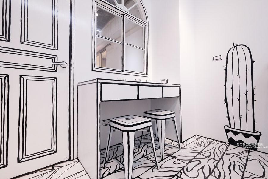 20180710163708 54 - Goddess Cafe│走進漫畫世界裡,超酷的2D黑白漫畫感咖啡廳