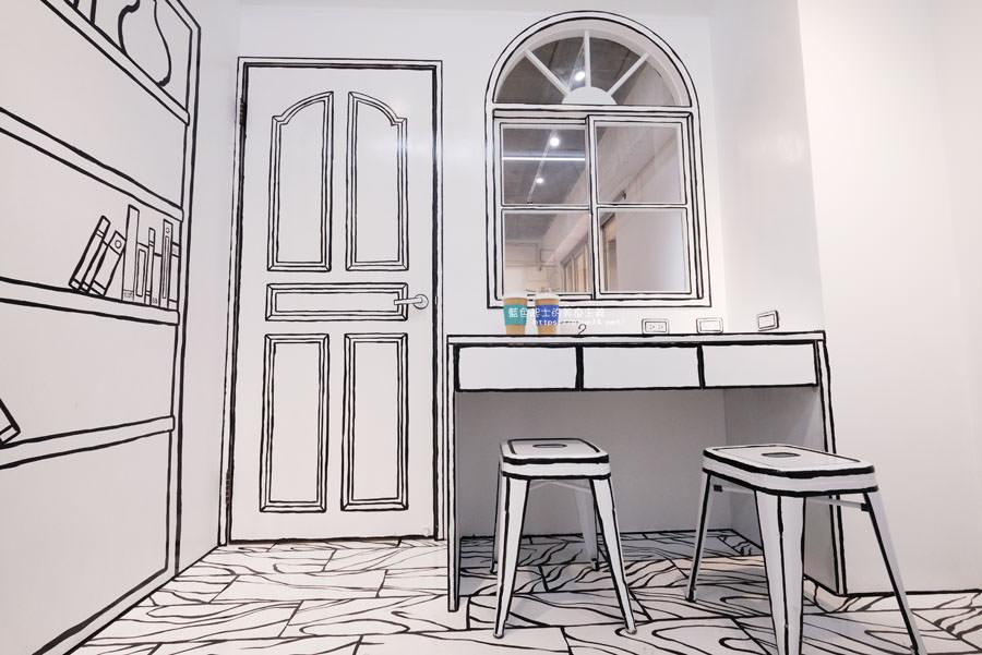 20180710163711 13 - Goddess Cafe│走進漫畫世界裡,超酷的2D黑白漫畫感咖啡廳