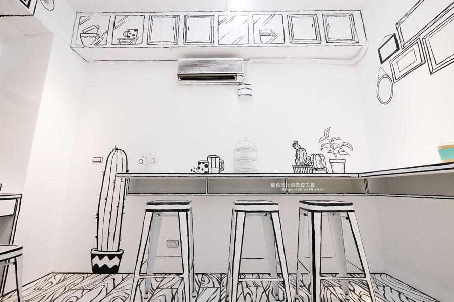 20180710163716 26 - Goddess Cafe│走進漫畫世界裡,超酷的2D黑白漫畫感咖啡廳